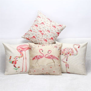 Lovely flamingo cover - evasdecor.com