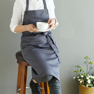 Kitchen apron with buttons - evasdecor.com