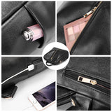 Women's backpack with external USB - evasdecor.com