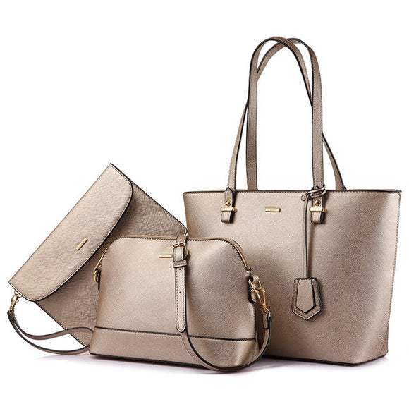 Women's shoulder bag, 3 pcs set - evasdecor.com