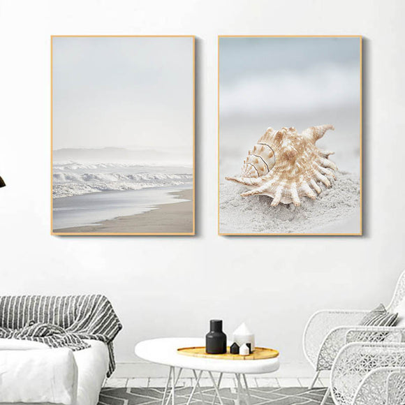 Sea shell canvas print - evasdecor.com