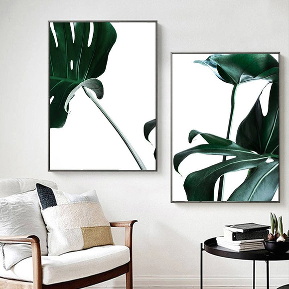 Monstera canvas print - evasdecor.com