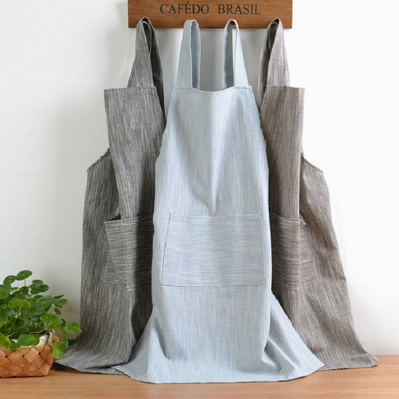 Kitchen apron with pockets - evasdecor.com