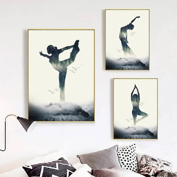 Yoga canvas print - evasdecor.com