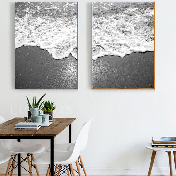 Beach coast canvas art - evasdecor.com