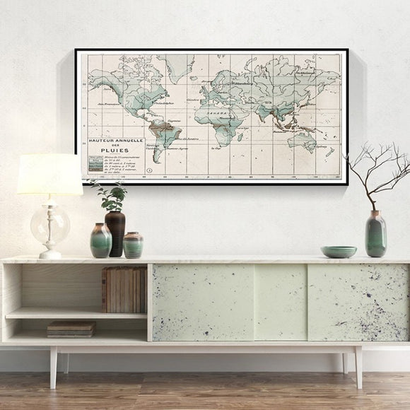 Vintage world map print - evasdecor.com