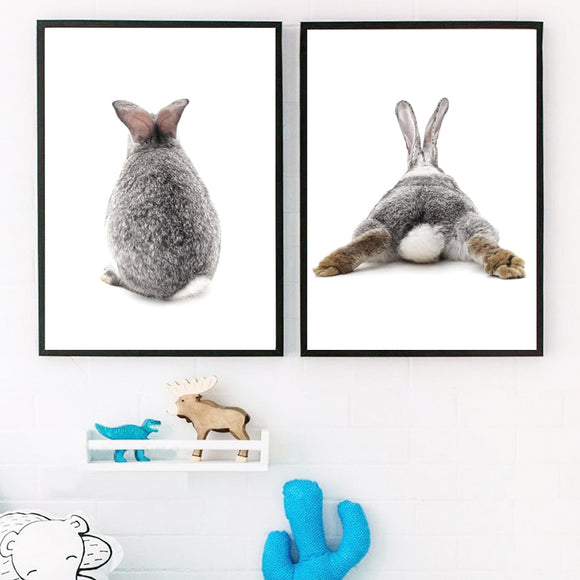 Lazy rabbit canvas print - evasdecor.com