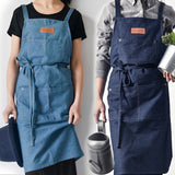 Denim kitchen apron - evasdecor.com