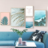 Blue ocean canvas print - evasdecor.com