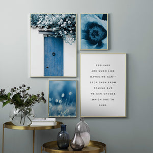 Sky blue canvas print - evasdecor.com