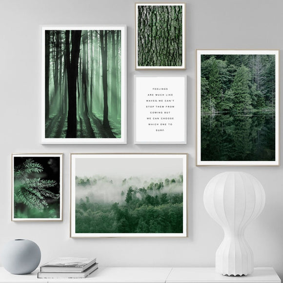 Forest wall canvas print - evasdecor.com
