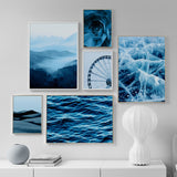 Blue landscape canvas print - evasdecor.com
