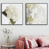 White flower canvas print - evasdecor.com