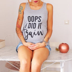 Maternity Oops I Did It Again Letter Print Vest