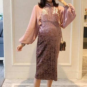 Maternity Chiffon Bubble Dress