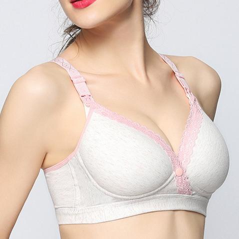Maternity Solid Color Feeding Bra