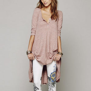 Maternity Button Loose Casual Dress