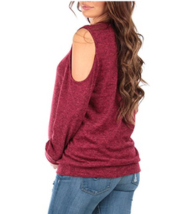 Maternity Cold Shoulder Pullover
