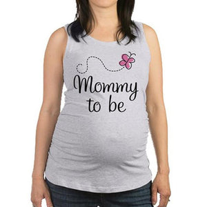 Maternity Letter Print Tank Top