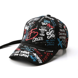 Mom Girl Graffiti Prints Matching Hats