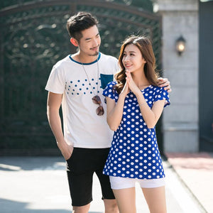 Polka Dots Round Neck Family Outfits