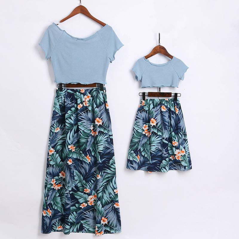 Mom Girl Botanical Prints Matching Outfits