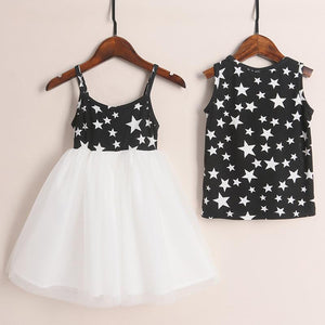 Brother Sister Star Prints Matching Outfits