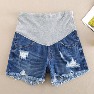 Maternity Abdomen Supportive Short Jeans