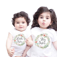 Brother Sister Print Floral White Matching Outfits
