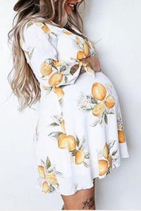 Lemon Maternity Dress