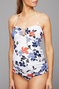 Maternity Floral Two Piece Tankini Swimsuit