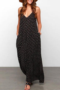 Maternity Polka Dots Cami Dress