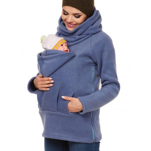 Multi-Function Kangaroo Sweater Parenting Bag Hoodie