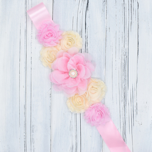 Maternity Sash Photo Props Flower Belt