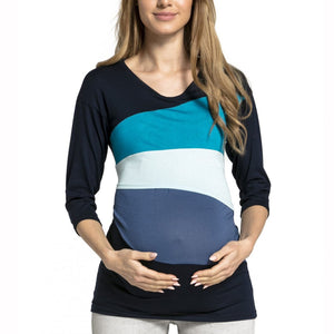 Nursing & Feeding Color Print Maternity Long Sleeve T-Shirt