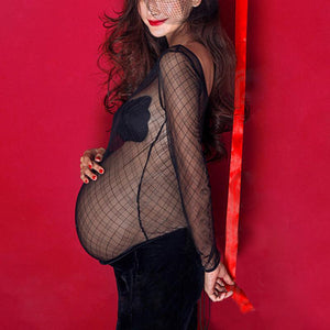 Maternity Lace Black Photoshoot Dress