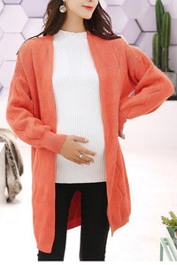 Maternity Fashion Loose Long Sleeve Cardigans