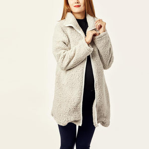 Maternity Hooded  Plain Basic Outerwear