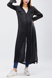 Maternity Fashionable Loose Long Sleeved Maxi Dress