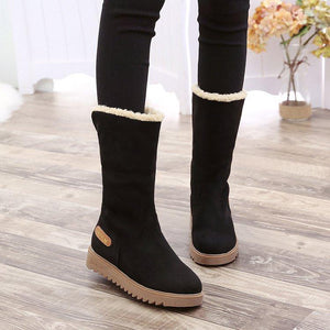Winter Cotton Padded Anti Skiding Keep Warm Middle Snow Boots