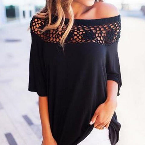 Casual New Off-The-Shoulder Women's T-Shirt