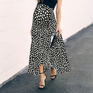 Maternity Cute Printed Colour Loose Skirt