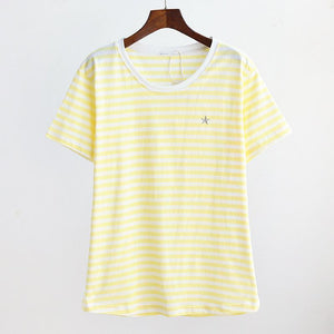 Maternity Round Collar Short Sleeve T-Shirt
