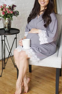 Maternity Lace Casual 3/4Sleeve Dress