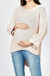 Maternity Casual Loose Round Neck Strapless Knitting Sweater