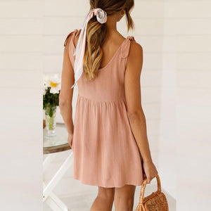 Maternity Tied Halter Dress