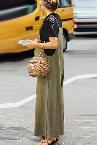 Maternity Plain Loose Jumpsuits