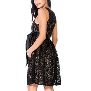 Maternity Sleeveless Party Lace Dress