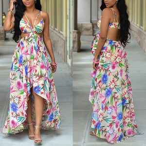 Maternity Printed Beach Maxi Dress