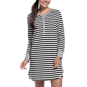 Maternity Stripe Nursing & Feeding Dress